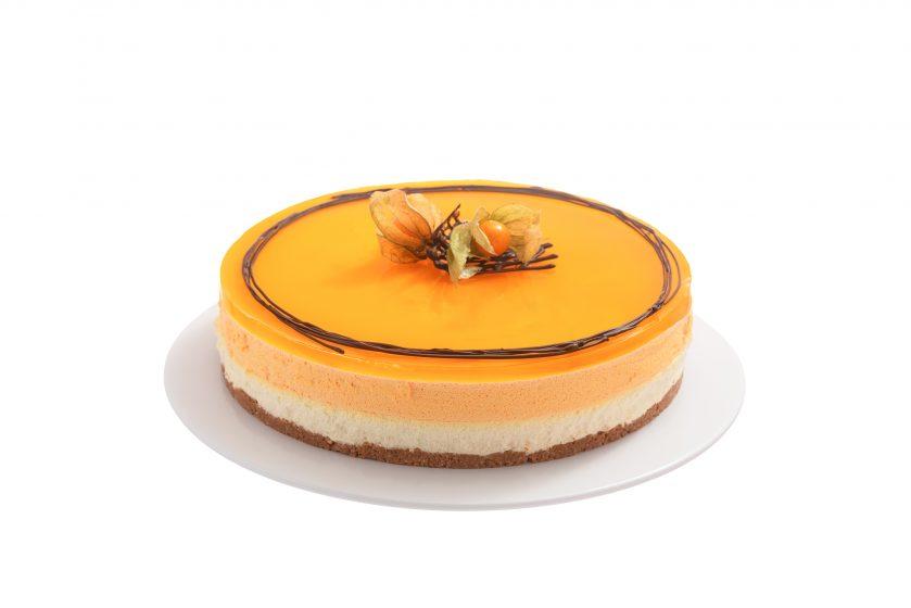 Tyrni-valkosuklaa juustokakku - kakku - hääkakku - hääkakut